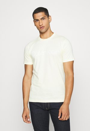 FRONT LOGO - T-shirt con stampa - light yellow
