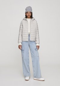 PULL&BEAR - Winter jacket - mottled light grey - 1