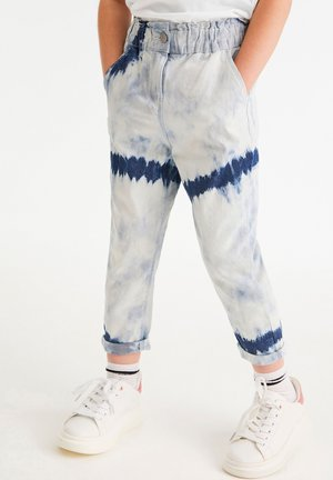 TIE DYE GATHERED - Džíny Relaxed Fit - blue denim
