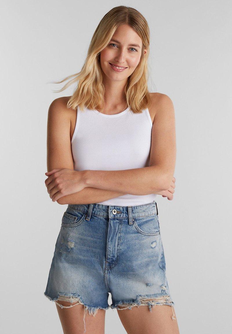 edc by Esprit - FESTIVAL  - Denim shorts - blue medium washed