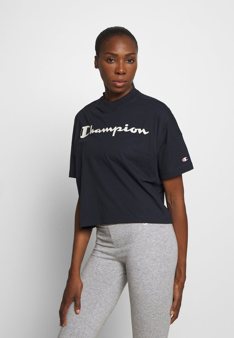 Champion - CROP LEGACY - Printtipaita - dark blue