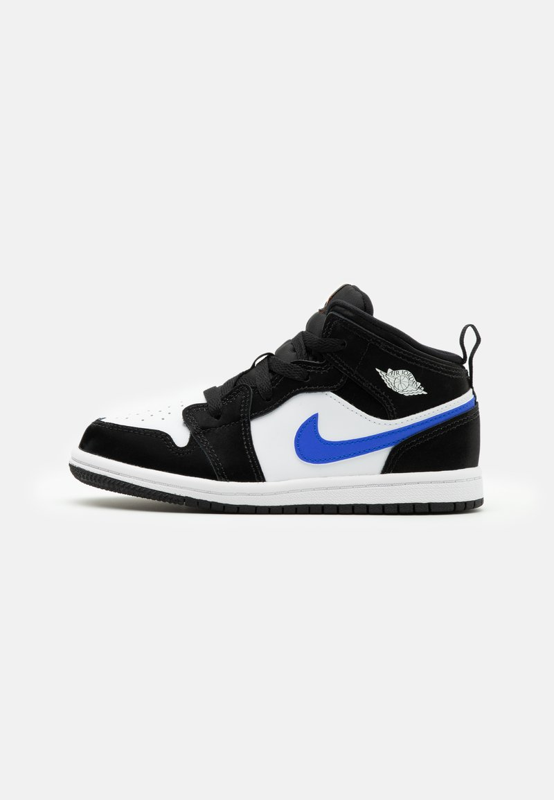 Jordan - AIR 1 MID UNISEX  - Basketbalové boty - black/racer blue/white/total orange