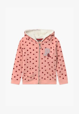 SMALL GIRLS  - Mikina na zip - coral cloud