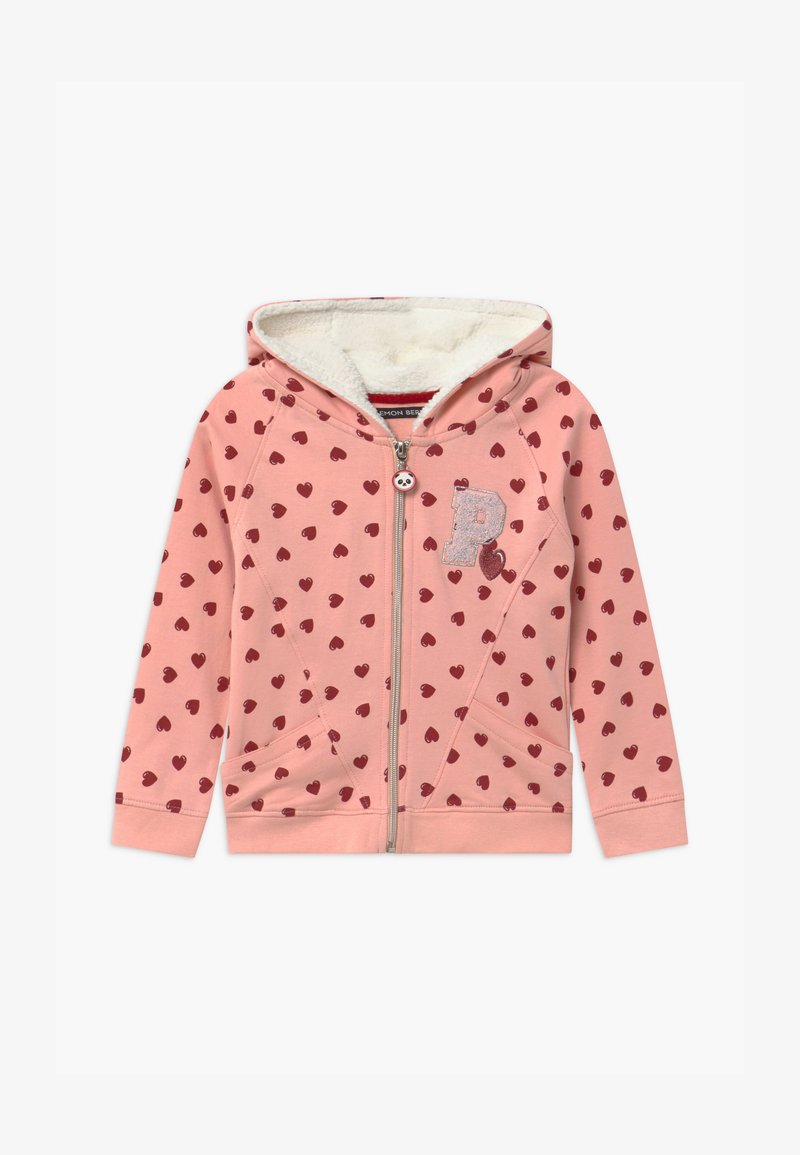 Lemon Beret - SMALL GIRLS  - Zip-up hoodie - coral cloud