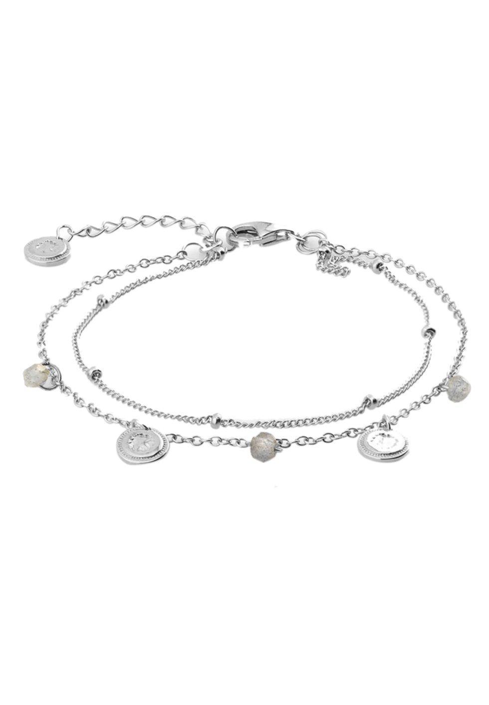 Femme LABRADORITE COINS - Bracelet