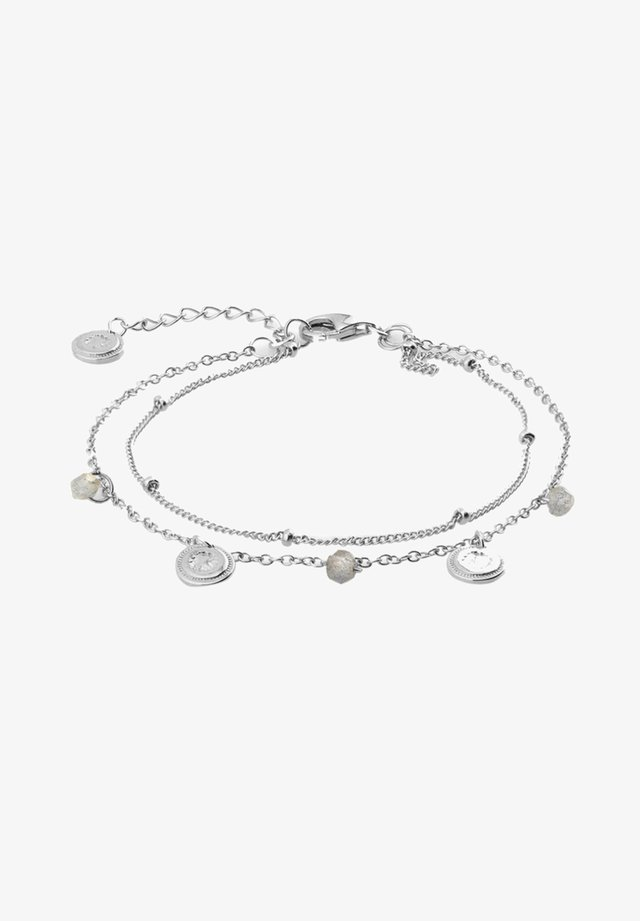 LABRADORITE COINS - Bracelet - plata