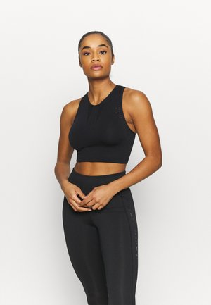 Sport-bh met light support - black