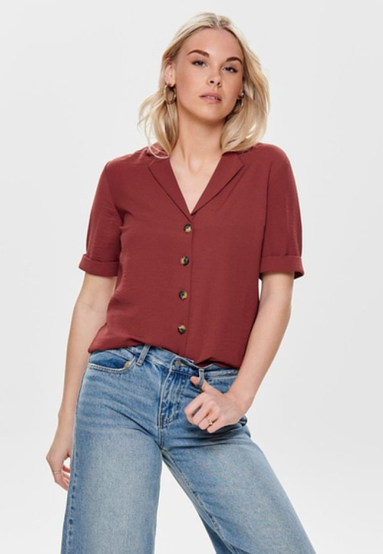 ONLY - Button-down blouse - dark red