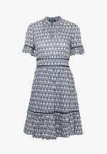 PRINTED DRESS - Day dress - blue/white