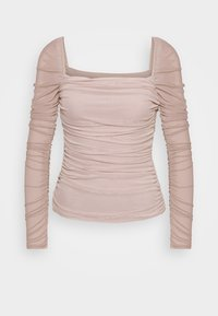 NA-KD - SQUARE NECK - Long sleeved top - beige - 4