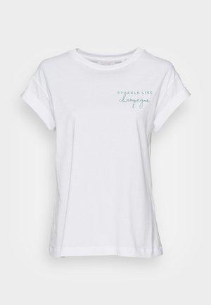BOYFRIEND SPARKLE ORGANIC - T-shirt print - aqua