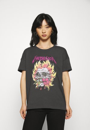 ONLMETALLICA LIFE BOX - T-shirt z nadrukiem - phantom