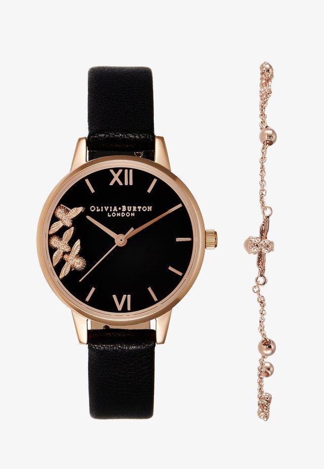 Horloge - schwarz/roségold-coloured