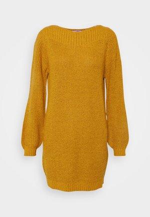 JDYWHITNEY MEGAN BOAT DRESS - Jumper dress - harvest gold black ply