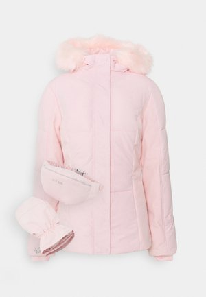 SKI JACKET WITH MITTENS AND BUMBAG  - Kurtka zimowa - pink
