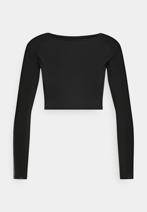 SLEEVE DETAIL - Langærmede T-shirts - black