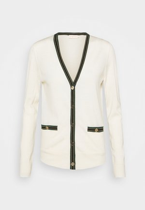 COLOR BLOCK MADELINE CARDIGAN - Cardigan - new ivory/malachite
