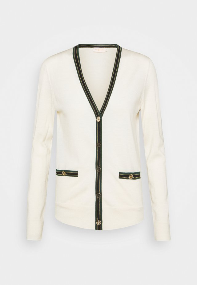 COLORBLOCK MADELINE CARDIGAN - Cardigan - new ivory/malachite