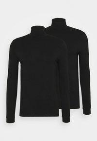 ROLL NECK 2 PACK - Top sdlouhým rukávem - black