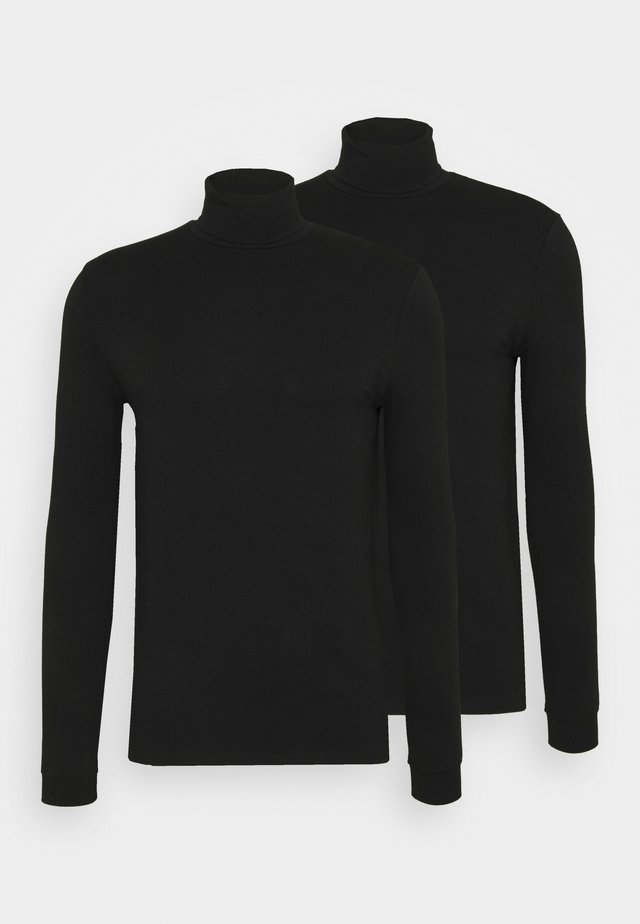 ROLL NECK 2 PACK - Longsleeve - black