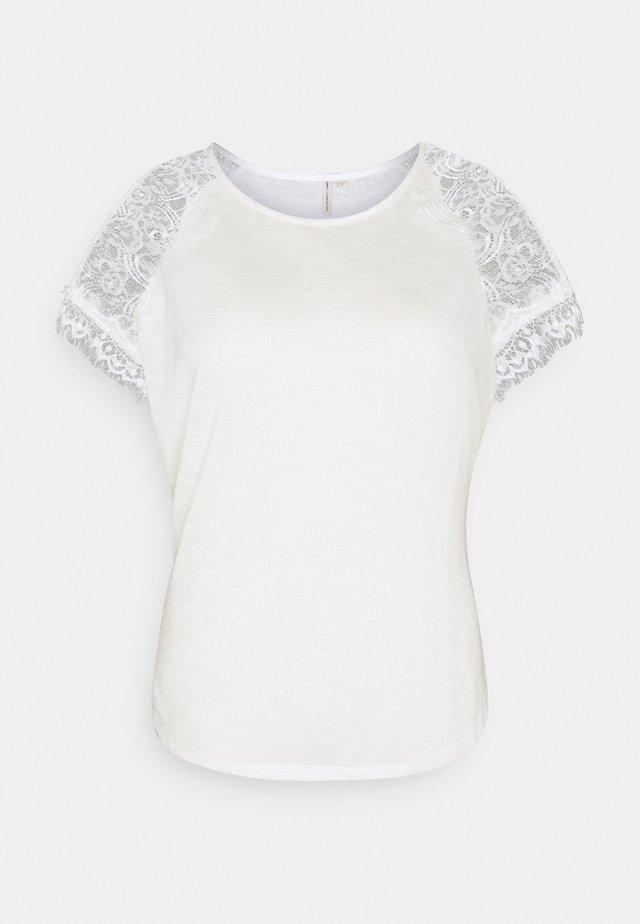 CARCELINE MIX - Print T-shirt - cloud dancer