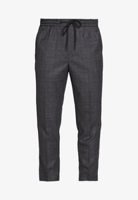 TRENDY TONAL CHECK PULL ON - Pantaloni - dark grey/green