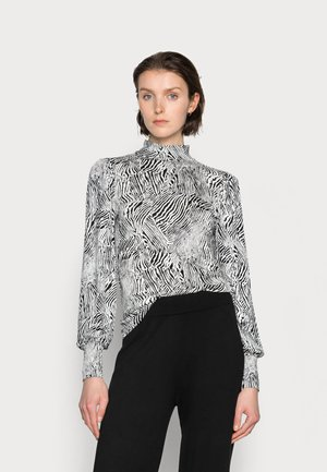 LIRA BLOUSE - Long sleeved top - black/chalk