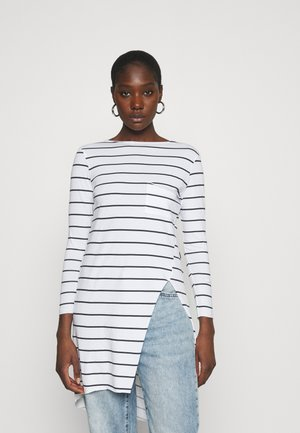 LONG SLEEVE TWIST SEAM TEE - Long sleeved top - white/blue