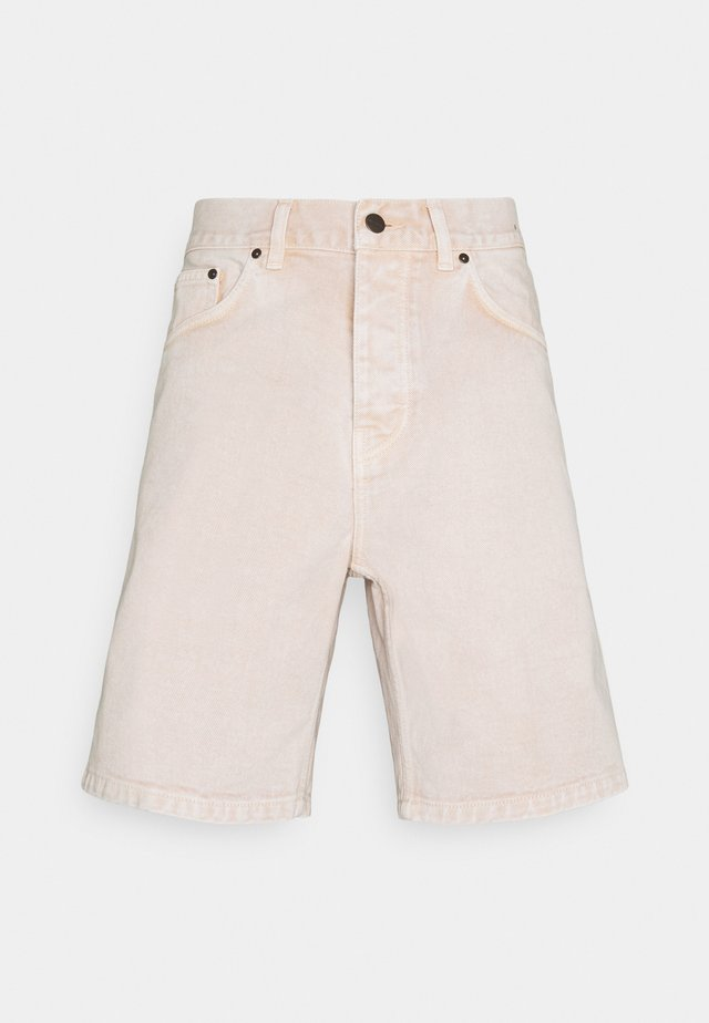 NEWEL PARKLAND - Shorts di jeans - dusty brown worn washed