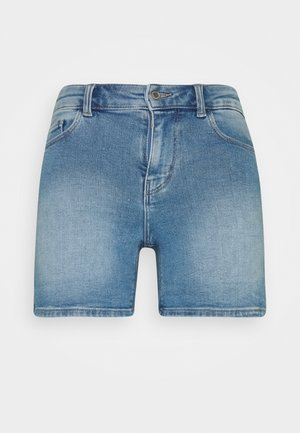 PCKAMELIA FOLD UP - Denim shorts - light blue denim