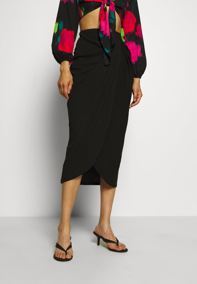SKIRT TAHIRA - Pencil skirt - black