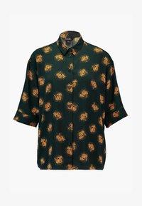 Monki - TAMRA BLOUSE - Button-down blouse - dark green - 5