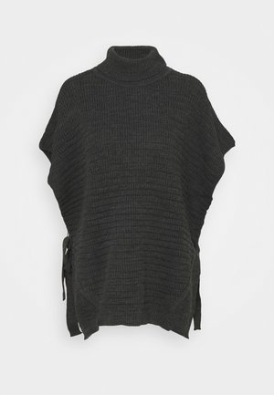 WERONICA PONCHO - Kapper - dark grey melange