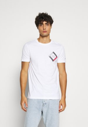 CORP DIAMOND TEE - T-shirt z nadrukiem - white
