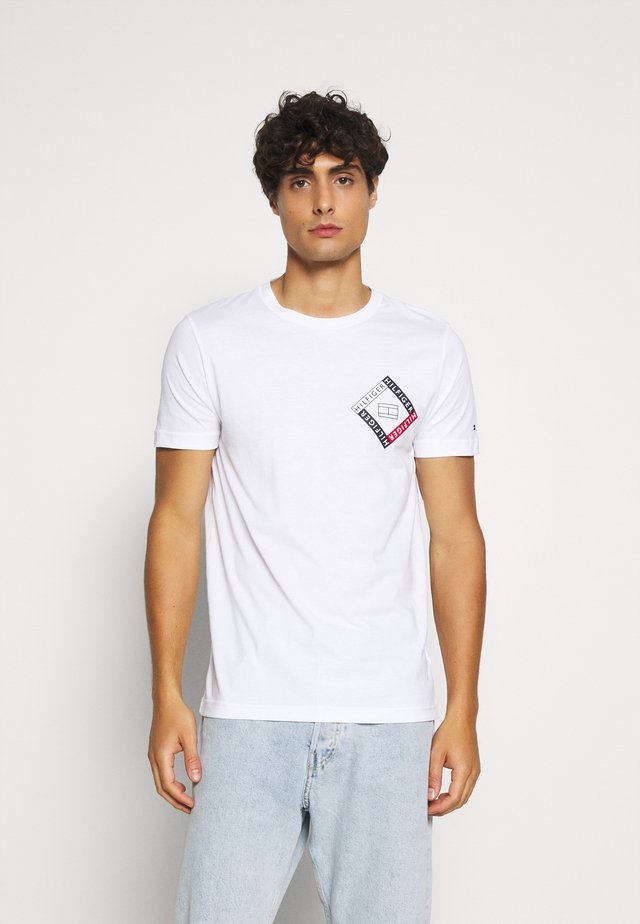 CORP DIAMOND TEE - T-Shirt print - white
