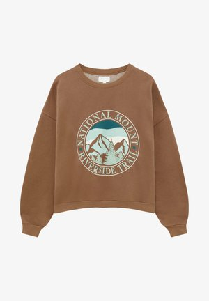 Sweatshirt - mottled light brown