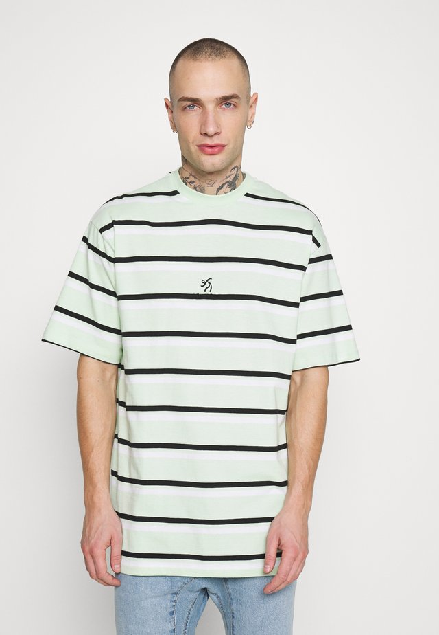 LOOSE TEE UNISEX - Print T-shirt - mint/white/black