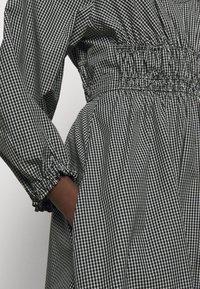 Proenza Schouler White Label - YARN DYE PLAID DRESS - Day dress - black/white - 7