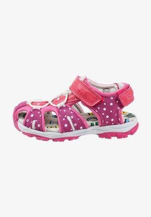 Walking sandals - rosewine