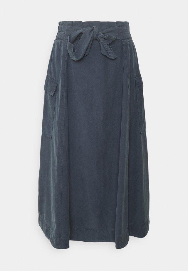 NIAMH PAPERBAG WAIST A-LINE SKIRT - A-line skirt - mid blue