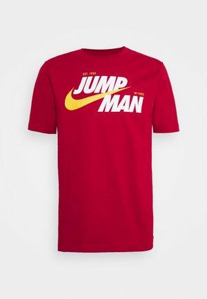 CREW - Print T-shirt - gym red