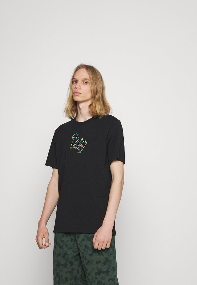 BRAND JUMPMAN AIR - T-shirt con stampa - black