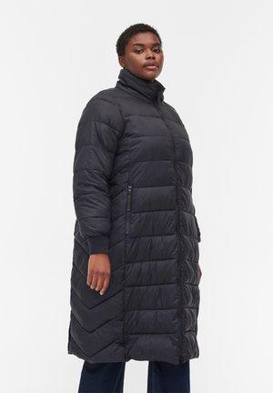 LONG - Winter coat - black