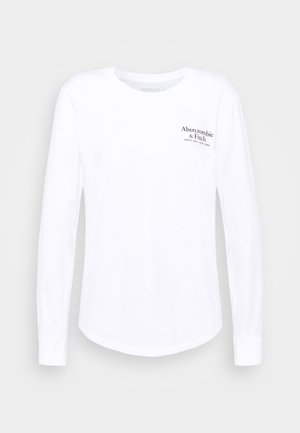 LONGSLEEVE PRINT LOGO TEE - Long sleeved top - white