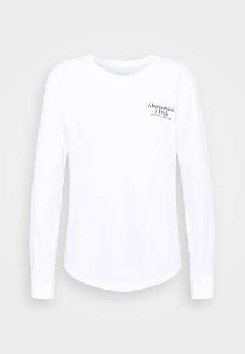 LONGSLEEVE PRINT LOGO TEE - Long sleeved top - white