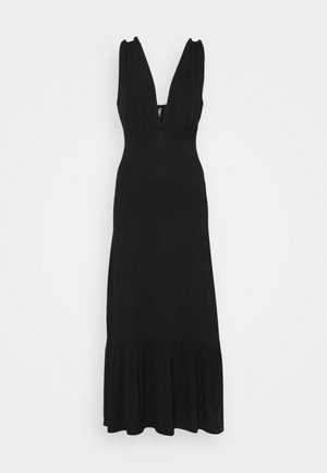 PCNEORA STRAP DRESS - Maxi-jurk - black