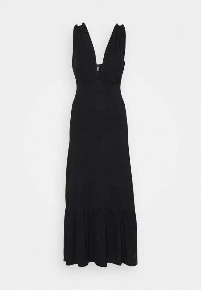 PCNEORA STRAP DRESS - Robe longue - black