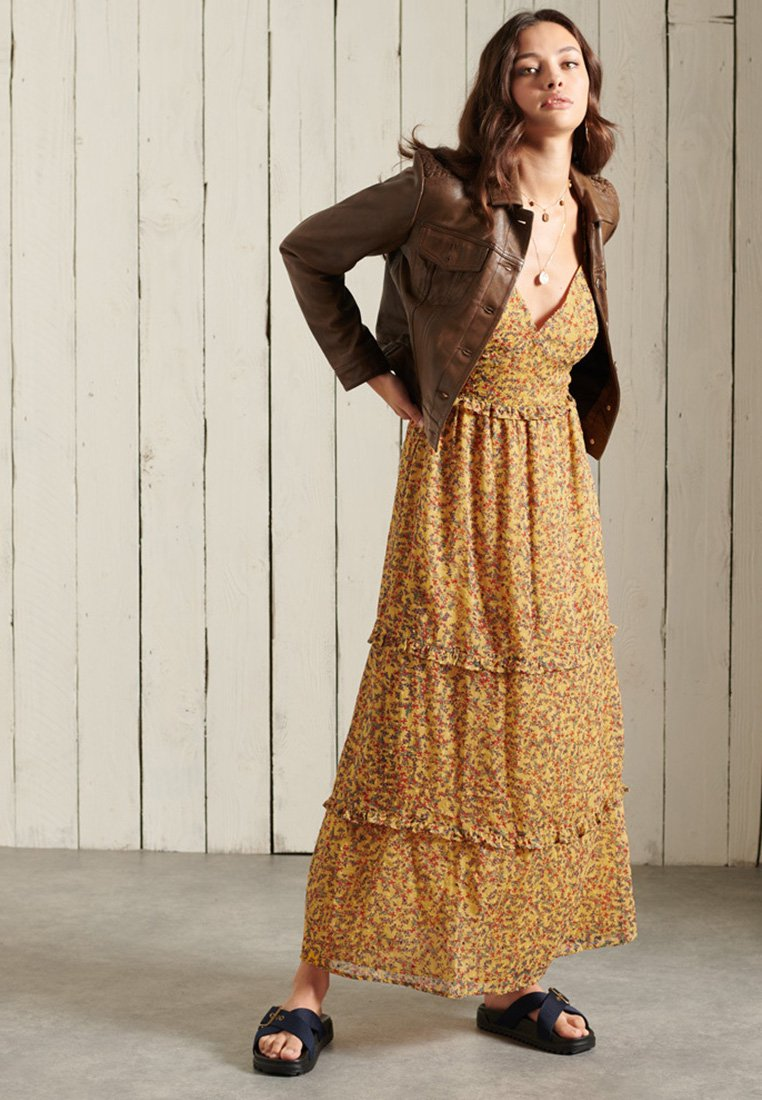 Superdry - MARGAUX - Maxi dress - autumn ditsy gold