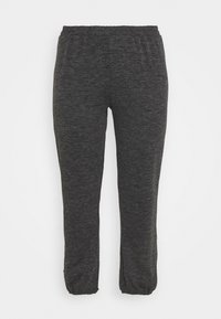 Pieces Curve - PCRELINO PANTS LOUNGE - Tracksuit bottoms - dark grey melange - 3
