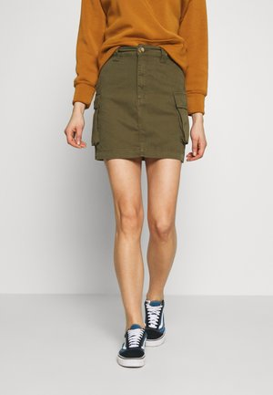 CARGO POCKET SKIRT - Minisukně - khaki